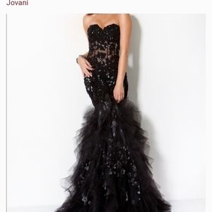 Black jovani dress